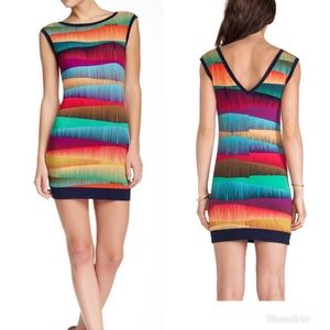 New! Trina Turk colorful fitted dress